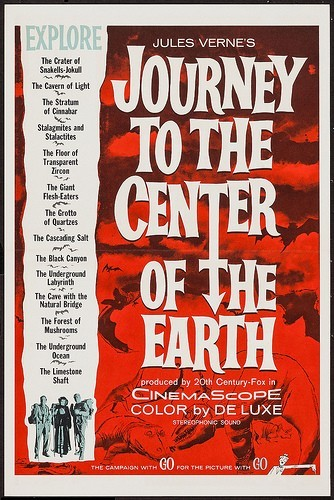 JOURNEY TO THE CENTER OF THE EARTH(1959)FILM POSTER 8
