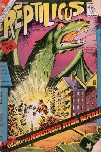 REPTILICUS COMICS COVER CHARLTON
