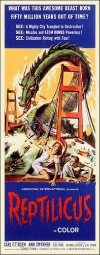 REPTILICUS(1961) FILM POSTER 7