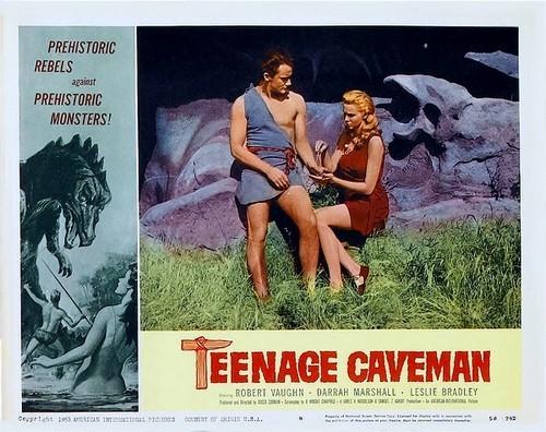 TEENAGE CAVEMAN LOBBY CARD 1