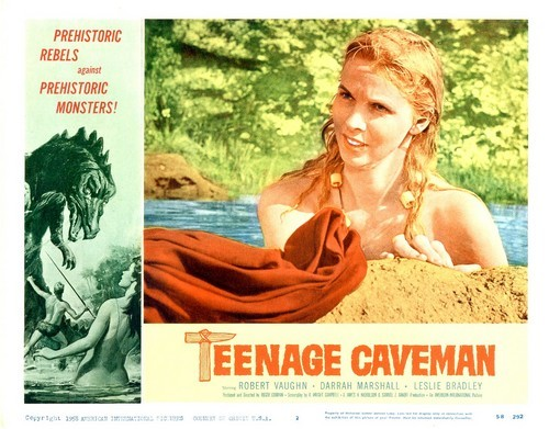 TEENAGE CAVEMAN LOBBY CARD 4