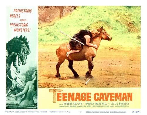 TEENAGE CAVEMAN LOBBY CARD 6