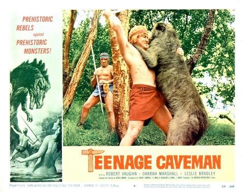 TEENAGE CAVEMAN LOBBY CARD 7