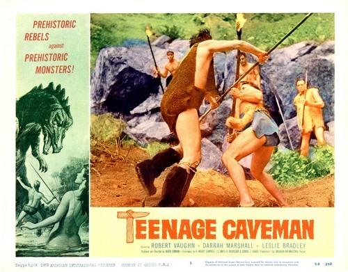 TEENAGE CAVEMAN LOBBY CARD 8