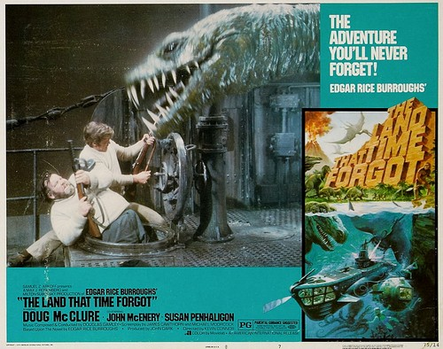 THE LAND THAT TIME FORGOT(1975) LOBBY CARD 2