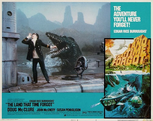 THE LAND THAT TIME FORGOT(1975) LOBBY CARD 3