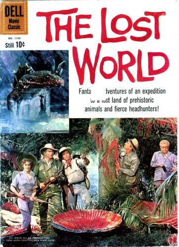 THE LOST WORLD DELL COMICS COVER 1