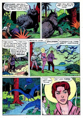 THE LOST WORLD DELL COMICS INSIDE 2