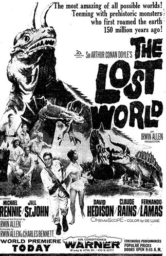 THE LOST WORLD(1960) ADV 1