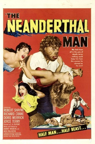 THE NEANDERTHAL MAN(1953) FILM POSTER 2