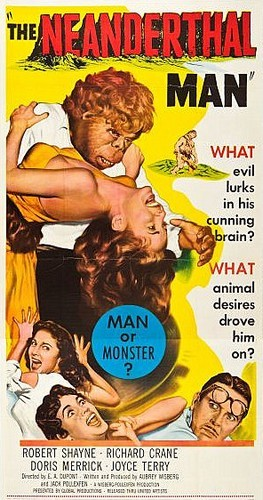 THE NEANDERTHAL MAN(1953) FILM POSTER 3