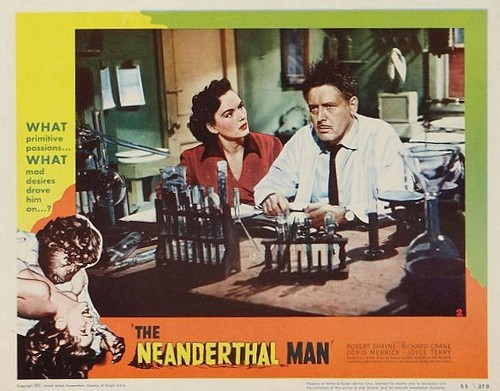 THE NEANDERTHAL MAN(1953) LOBBY CARD 1