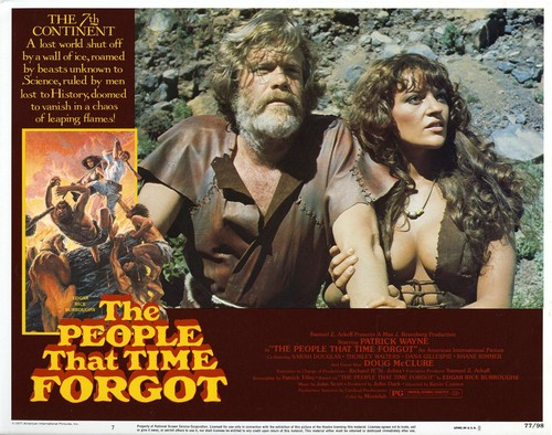 THE PEOPLE THAT TIME FORGOT(1977) LOBBY CARD 1