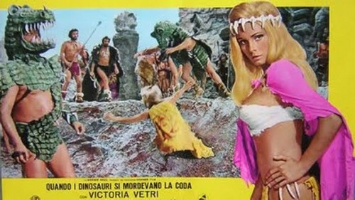 WHEN DINOSAURS RULED THE EARTH(1970) FILM POSTER 11