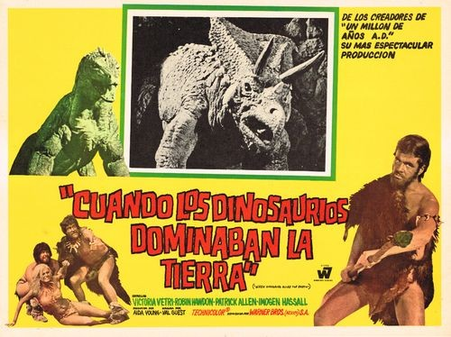 WHEN DINOSAURS RULED THE EARTH(1970) FILM POSTER 13