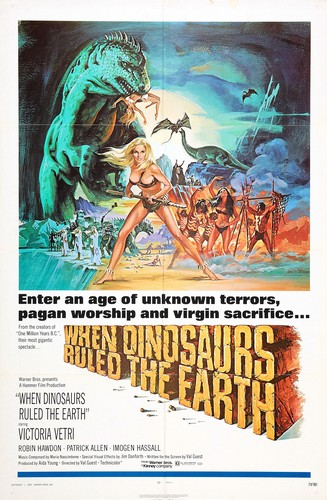 WHEN DINOSAURS RULED THE EARTH(1970) FILM POSTER 3