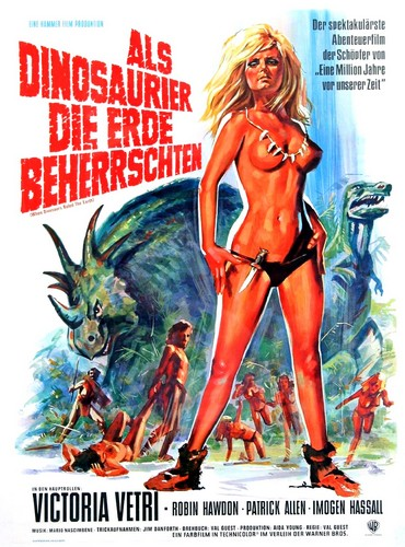 WHEN DINOSAURS RULED THE EARTH(1970) FILM POSTER 5