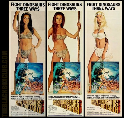 HAMMER FILM PRODUCTIONS: 'WHEN DINOSAURS RULED THE EARTH' 1970 VICTORIA VETRI THEBLACKBOXCUB.COM