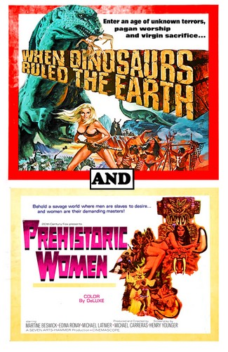 WHEN DINOSAURS RULED THE EARTH(1970) FILM POSTER 9