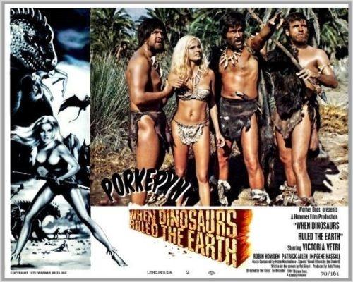 WHEN DINOSAURS RULED THE EARTH(1970) LOBBY CARD 3