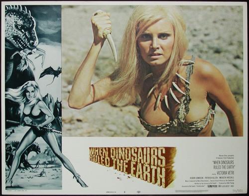 WHEN DINOSAURS RULED THE EARTH(1970) LOBBY CARD 4