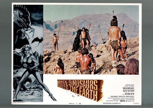 WHEN DINOSAURS RULED THE EARTH(1970) LOBBY CARD 5