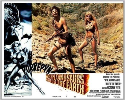 WHEN DINOSAURS RULED THE EARTH(1970) LOBBY CARD 6