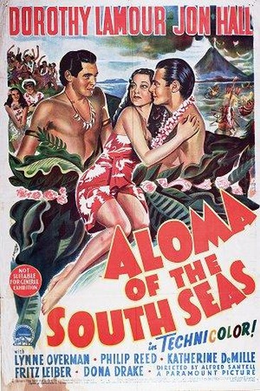 ALOMA OF THE SOUTH SEAS(1941) FILM POSTER 2