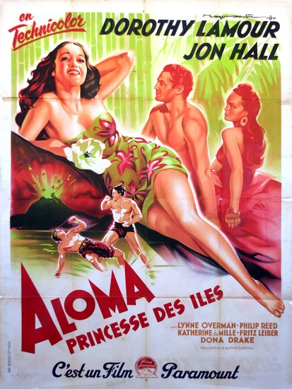 ALOMA OF THE SOUTH SEAS(1941) FILM POSTER 3