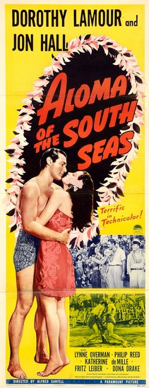 ALOMA OF THE SOUTH SEAS(1941) FILM POSTER 6