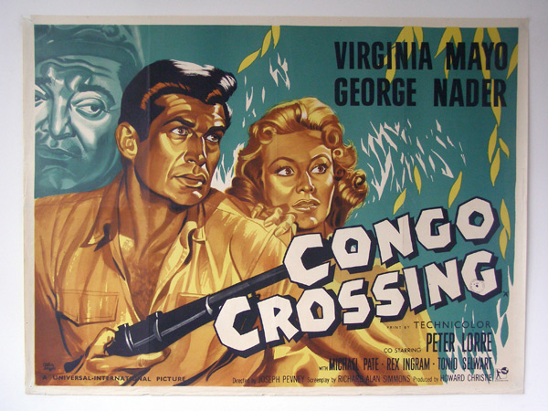 CONGO CROSSING(1956) FILM POSTER 2