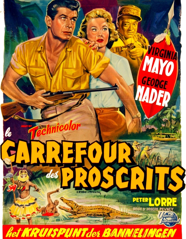 CONGO CROSSING(1956) FILM POSTER 6