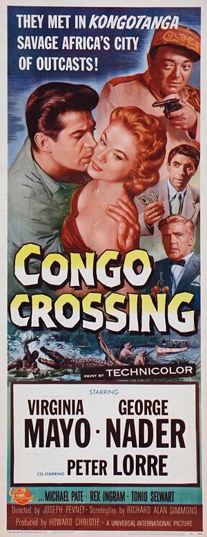 CONGO CROSSING(1956) FILM POSTER 9