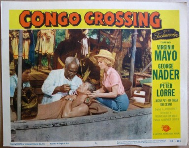 CONGO CROSSING(1956) LOBBY CARD 1