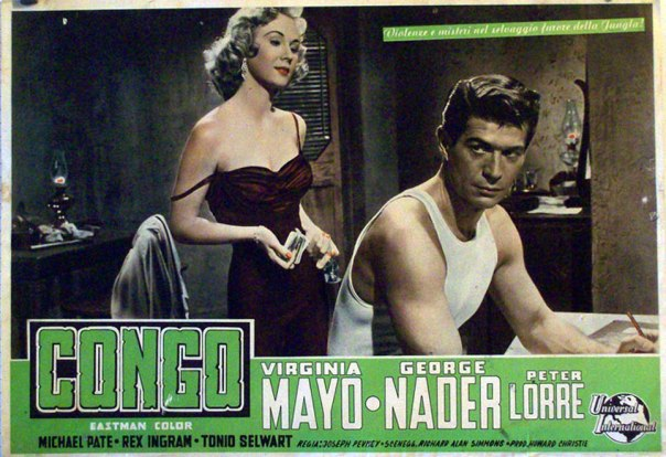 CONGO CROSSING(1956) LOBBY CARD 4