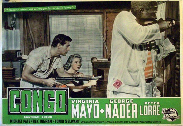 CONGO CROSSING(1956) LOBBY CARD 5