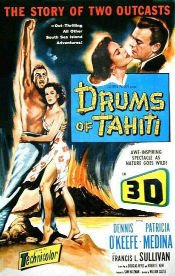 DRUMS OF TAHITI(1954)FILM POSTER 1