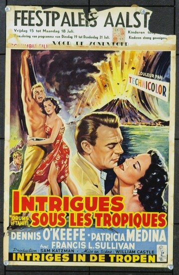 DRUMS OF TAHITI(1954)FILM POSTER 2