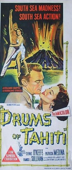 DRUMS OF TAHITI(1954)FILM POSTER 3