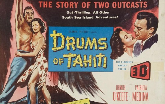 DRUMS OF TAHITI(1954)FILM POSTER 4