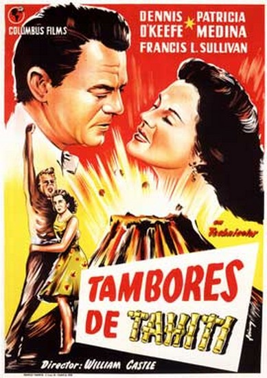 DRUMS OF TAHITI(1954)FILM POSTER 5