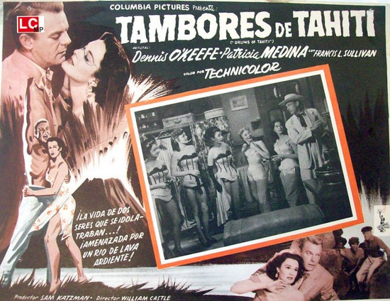 DRUMS OF TAHITI(1954)LOBBY CARD 1