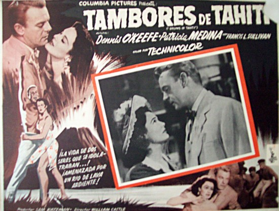 DRUMS OF TAHITI(1954)LOBBY CARD 2