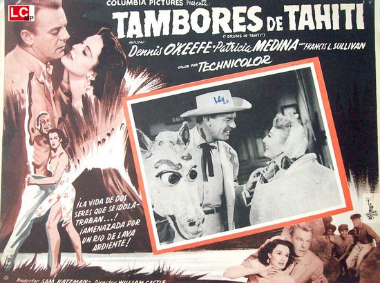 DRUMS OF TAHITI(1954)LOBBY CARD 3