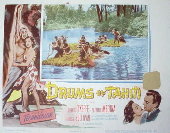 DRUMS OF TAHITI(1954)LOBBY CARD 4