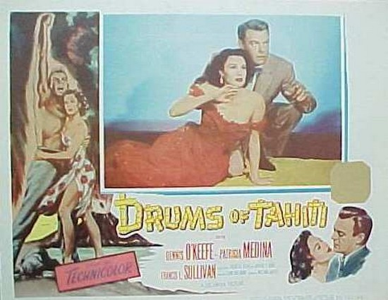 DRUMS OF TAHITI(1954)LOBBY CARD 5