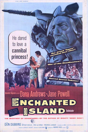 ENCHANTED ISLAND(1958) FILM POSTER 1