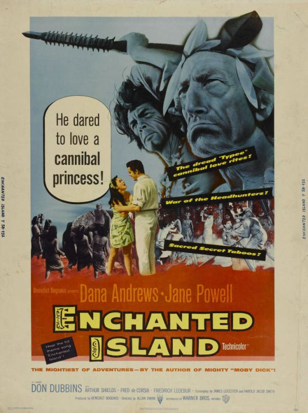 ENCHANTED ISLAND(1958) FILM POSTER 3