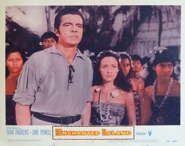 ENCHANTED ISLAND(1958) LOBBY CARD 1