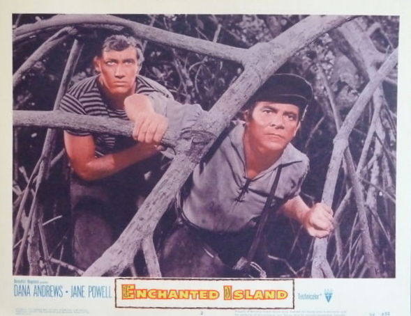 ENCHANTED ISLAND(1958) LOBBY CARD 3